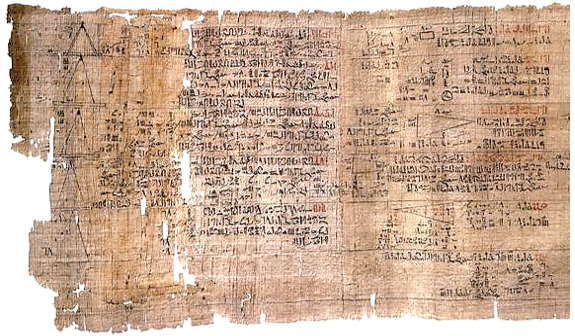 Figure 1: A part of Rhind papyrus