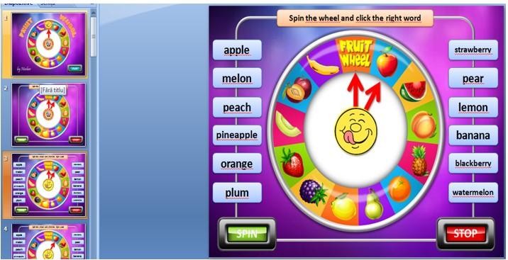 Figure 1. Wheel of fortune PPT caption (Herber)